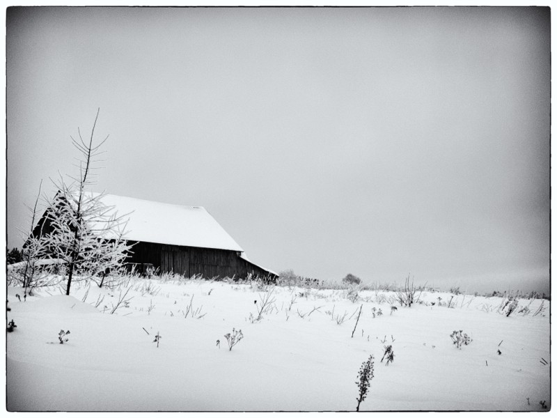Great old barn on the wind swept plateau.  -13C and windy up there made for a nippy walk.