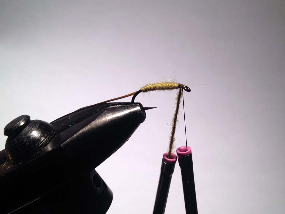 Olive Grizzly Dry Fly Step 7