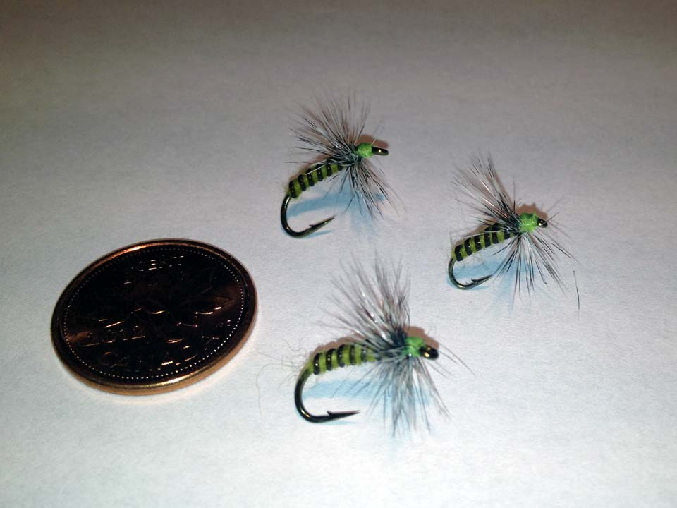 Tying the Olive Grizzly dry fly pattern.