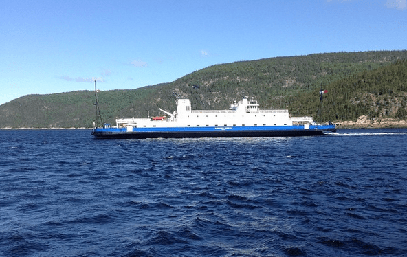 The ferry at Tadoussac