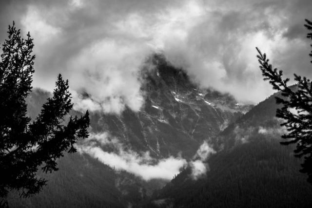 Davis Peak taken from the Diablo Lake Overlook