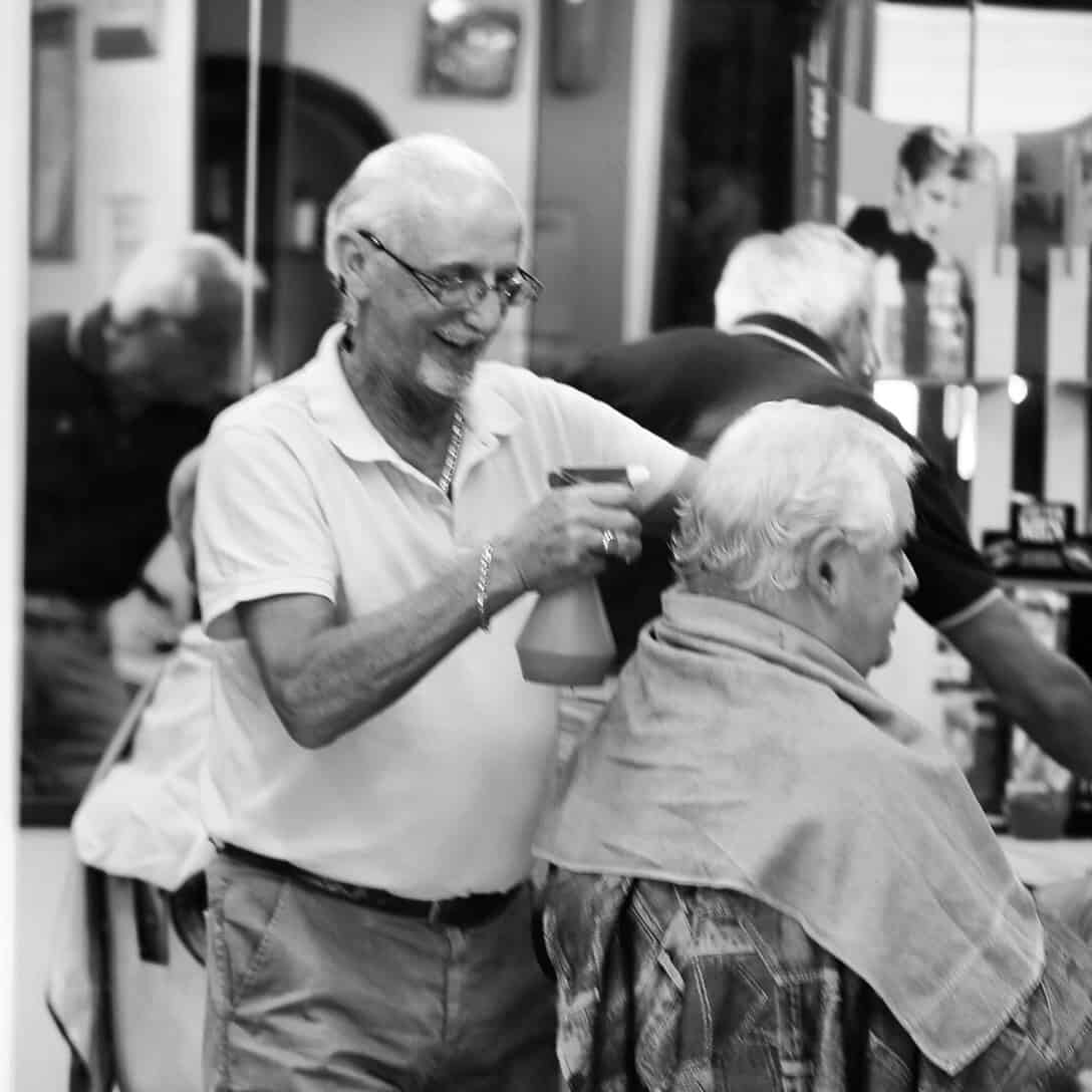 Portraits of Italy: barber in San Quirico d'Orcia