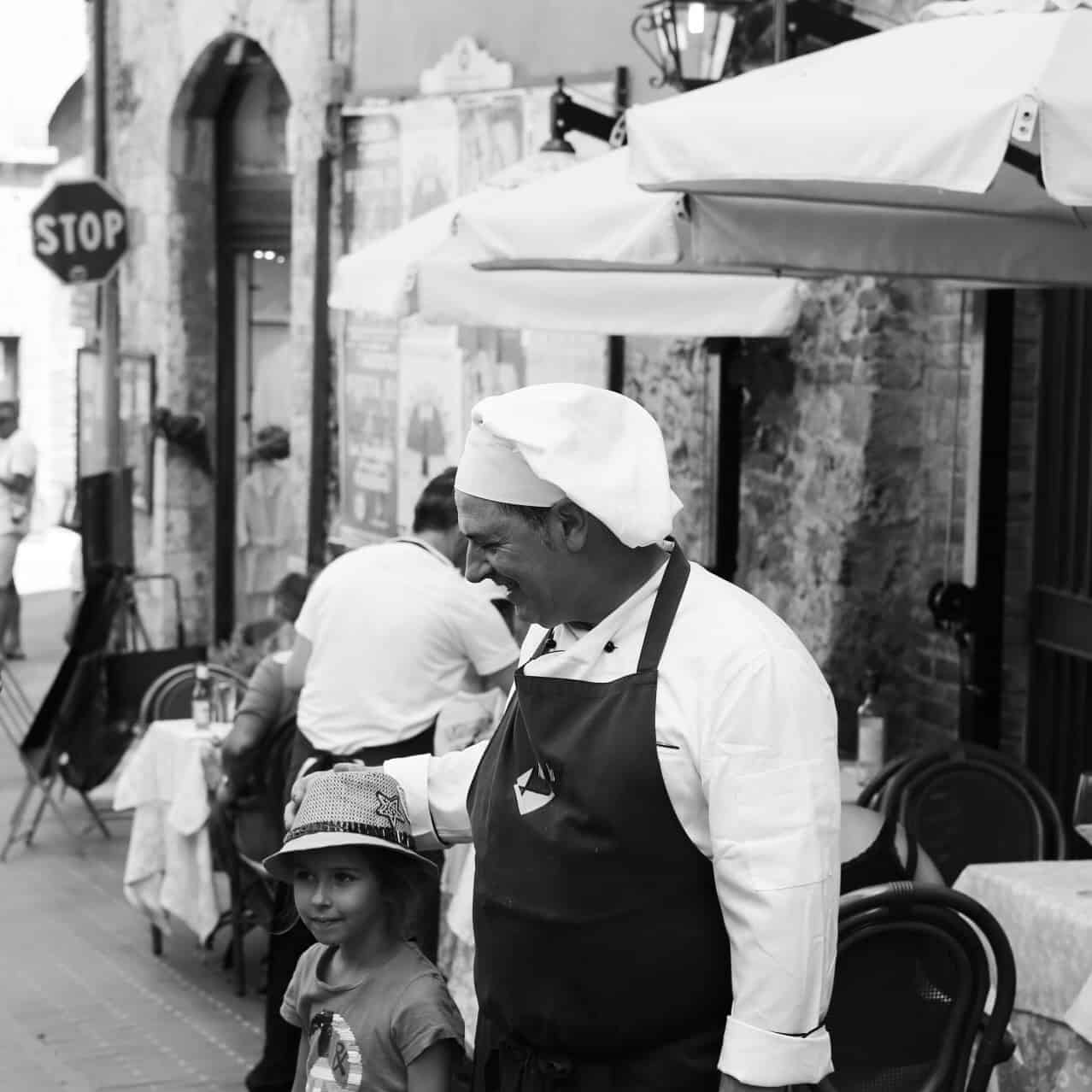 Portraits of Italy: chef and mini client in Siena