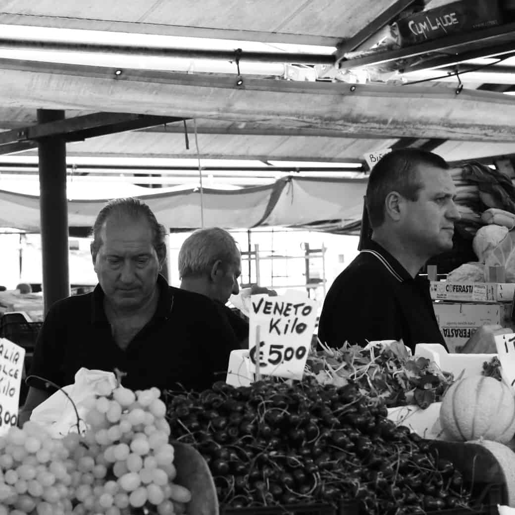 Portraits of Italy: fruit market in Venice