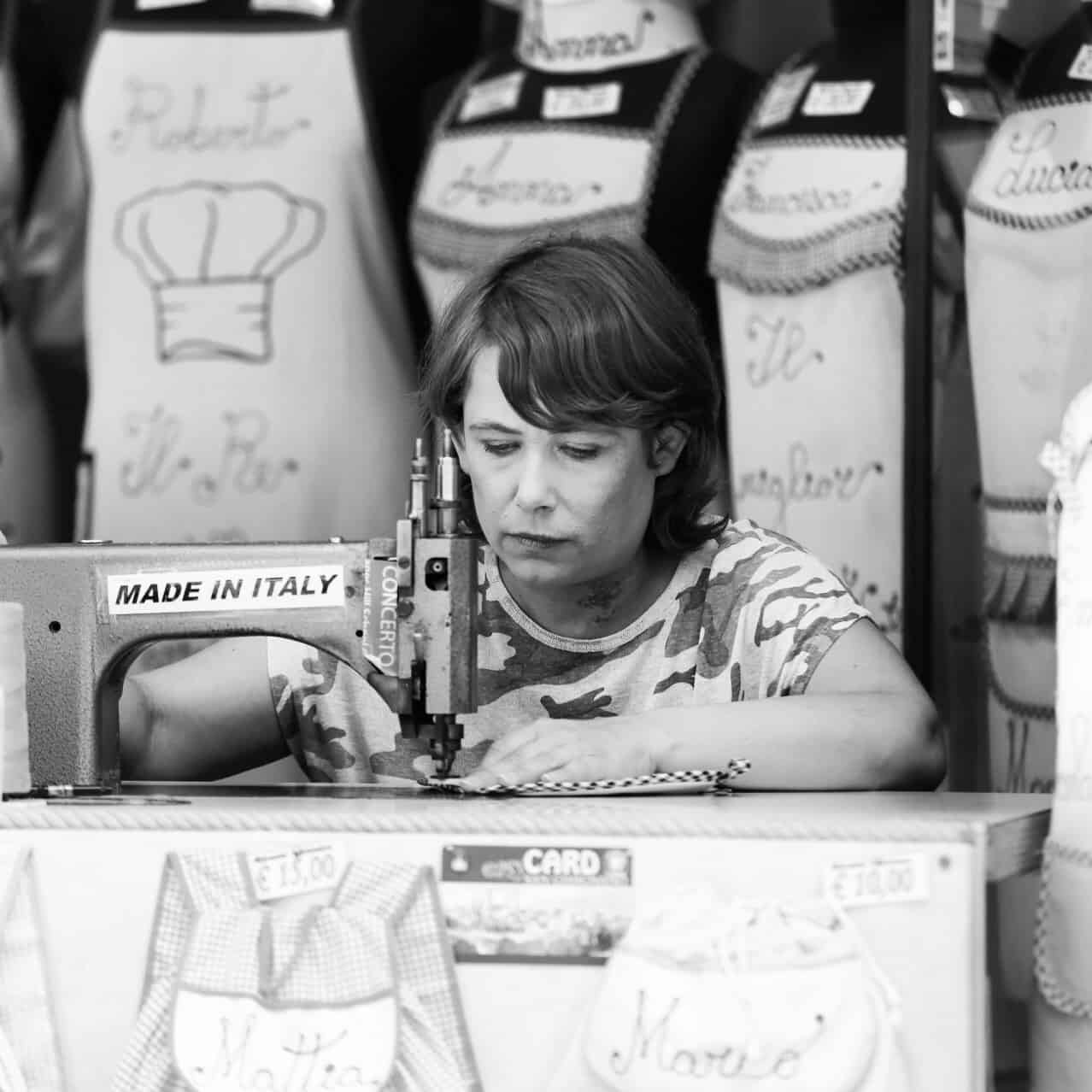 Portraits of Italy: seamstress in San Gimignano