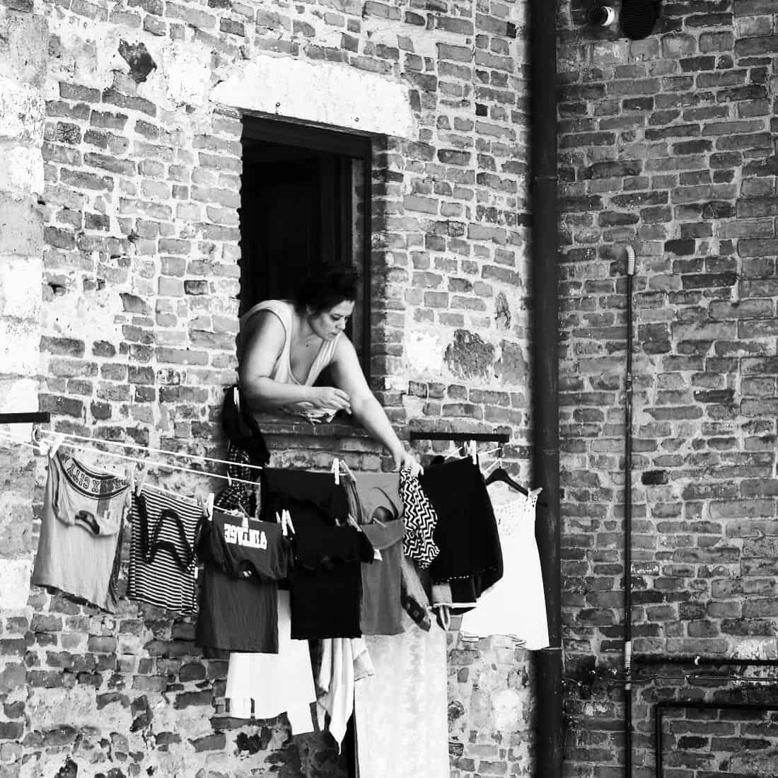 Portraits of Italy: washing day in Montepulciano