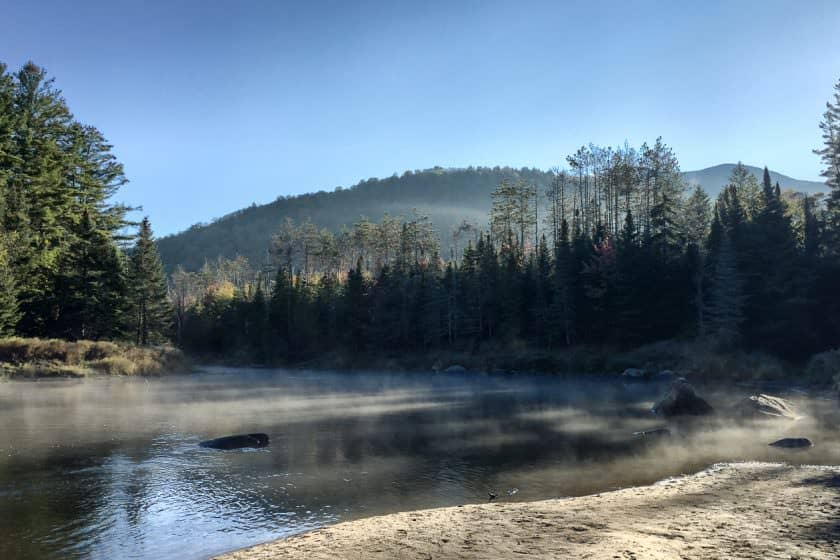 Early morning on the Ausable River West Branch